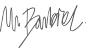 Signature Mr. Barbier